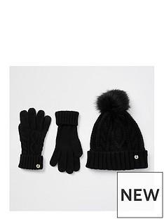 river-island-hat-and-glove-set-black