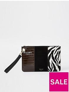 river-island-zebra-panelled-clutch-bag-black