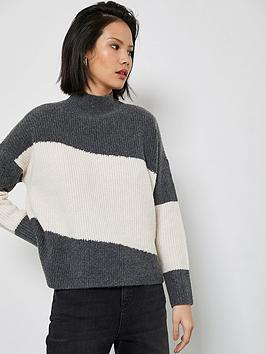 mint-velvet-grey-cream-chunky-jumper