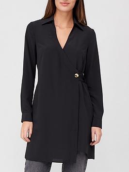 v-by-very-asymmetric-wrap-longline-blouse-black