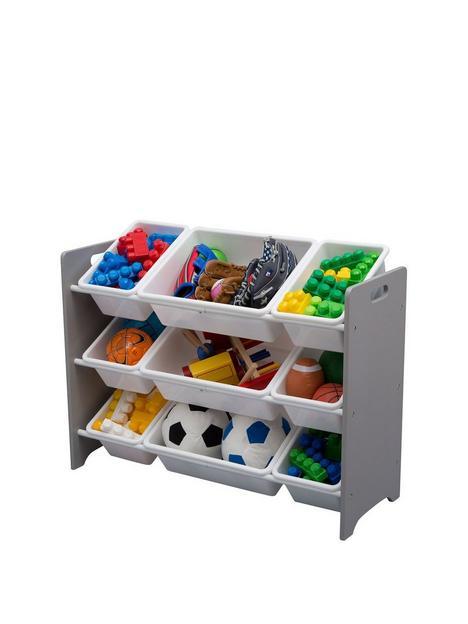 mysize-9-plastic-bin-organizer--grey