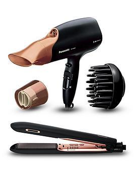 Panasonic Na65 Rose Gold Hair Dryer  Hs99 Rose Gold Hair Straightener Bundle