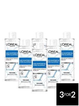 loreal-paris-anti-bacterial-hand-sanitiser-with-cap-70-alcohol-large-390ml-pack-of-6