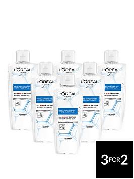loreal-paris-anti-bacterial-hand-sanitiser-gel-70-alcohol-200ml-pack-of-6