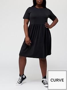 v-by-very-curve-jersey-smocknbspdress-blacknbsp