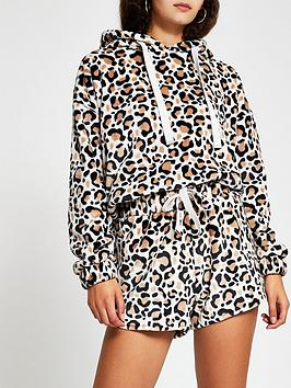 river-island-cosy-loungewear-animal-print-short-co-ord-print