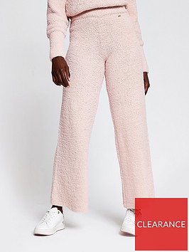 river-island-fluffy-loungewear-trouser-co-ord-light-pink