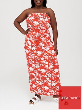 v-by-very-curve-bandeau-jersey-maxi-dress-red-print