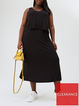 v-by-very-curve-jersey-double-layer-midi-dress-black