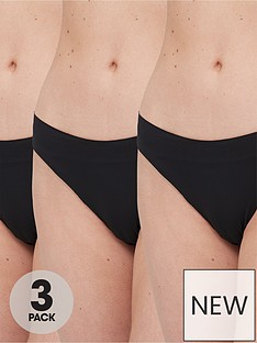 brave-soul-3-pack-seamfree-thongs-black