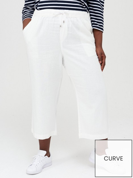 v-by-very-curve-linen-cropped-trouser-white