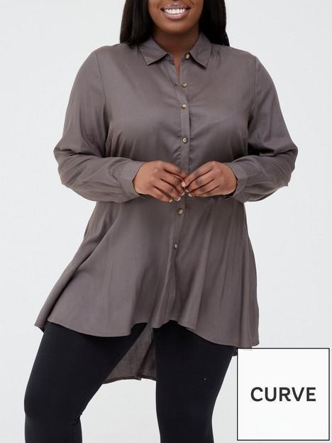 v-by-very-curve-dipped-hem-longline-blouse-darknbspkhaki