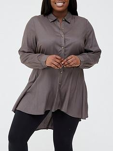 v-by-very-curve-dipped-hem-longline-blouse-khaki
