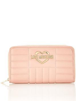 love-moschino-fashion-quilt-continental-purse-pink
