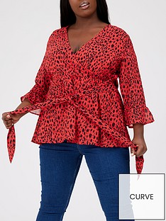 v-by-very-curve-printed-wrap-blouse-red-animal