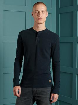 superdry-superdry-micro-texture-henley-top-navy
