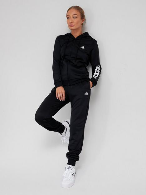 adidas-linear-french-terry-tracksuit-black