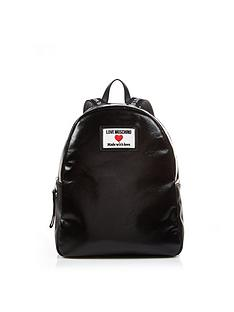 love-moschino-sporty-logo-patent-backpack-black