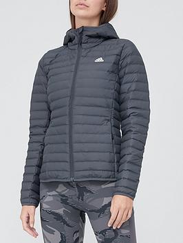 adidas-varilite-soft-hooded-jacket-dark-grey