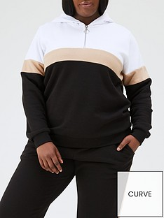 v-by-very-curve-colour-block-hoodie-multi