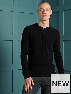 superdry-micro-texture-henley-top-black