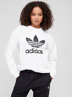 adidas-originals-trefoil-crew-sweat-white