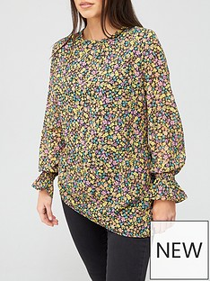 v-by-very-long-sleeve-georgette-printed-shell-top-floral