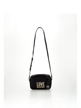 love-moschino-logo-camera-bag-black