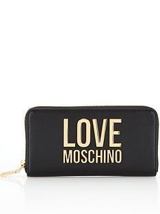 love-moschino-logo-continental-purse-black