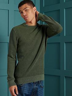 superdry-superdry-academy-dyed-texture-crew-sweatshirt-green