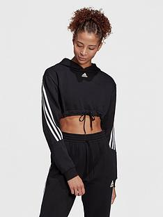 adidas-badge-of-sport-crop-hoodie-blackwhite