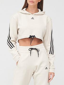 adidas-badge-of-sport-crop-hoodie-greyblack
