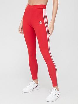 adidas-originals-3-stripe-tights-red
