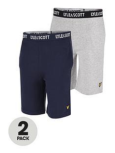 lyle-scott-boys-2-pack-lounge-shorts-navy