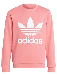 adidas-originals-originals-childrensnbsptrefoil-crew-neck-sweatshirt-pinkwhite