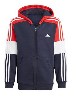 adidas-boys-colourblock-full-zip-hoodie-grey
