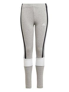 adidas-girls-colourblock-leggings-greyblack