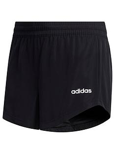 adidas-youth-girls-woven-shorts-blackwhite
