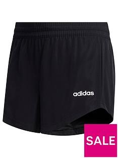 adidas-youth-girls-woven-shorts-blackwhite