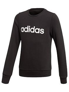 adidas-youth-girls-linear-sweat-top-blackwhite