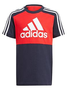 adidas-boys-colourblock-t-shirtnbsp--red