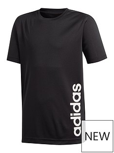 adidas-youth-boys-trainingnbsplinear-t-shirt--blackwhite