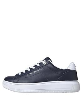 tommy-hilfiger-leather-trainers-navy