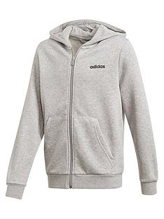 adidas-youth-boysnbspessentials-linear-full-zipnbsphoodie-medium-grey-heather