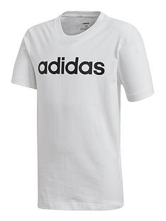 adidas-youth-boys-linear-t-shirt-white