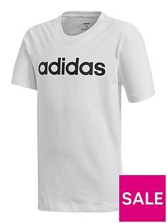 adidas-youth-boys-linear-t-shirt-white