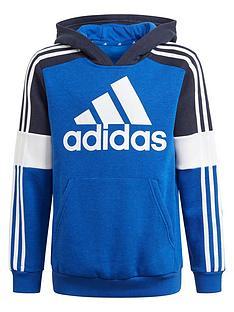 adidas-fleece-colourblock-hoodie-blue