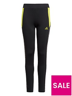 adidas-girls-leo-tights-black