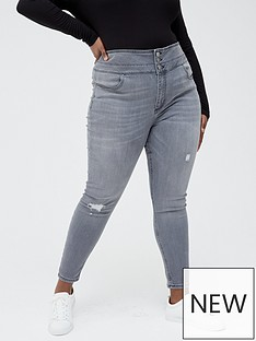 v-by-very-curve-high-waisted-shaping-skinny-jean-grey-wash