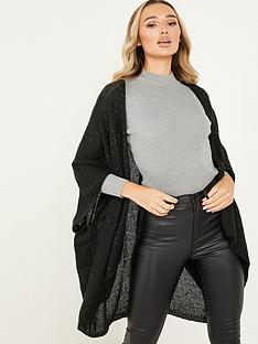quiz-black-shimmer-cape